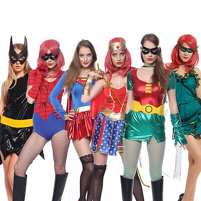 Damen Cosplay Kostüm Superheldin D C Super Hero Karneval Party Mottoparty