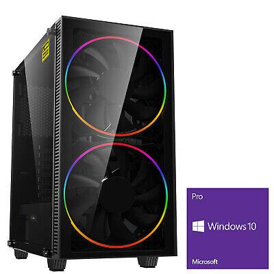 Computer Games - Ultra Fast AMD Quad Core 8GB 120GB SSD Windows 10 Gaming PC Computer BH ARGB