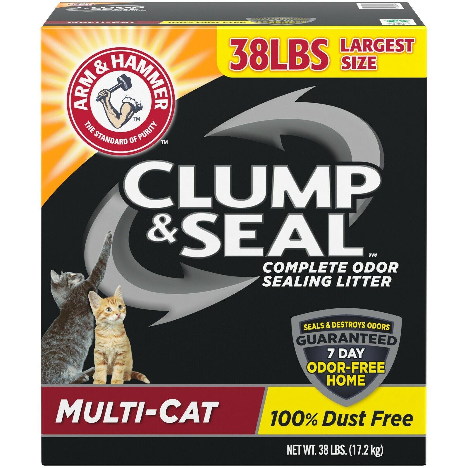 ARM & HAMMER Clump & Seal Platinum Cat Litter, Multi-Cat, 2x