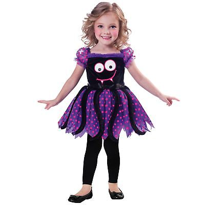 Kids Girls Toddlers Cute Spider Creepy Crawly Halloween Book Fancy Dress Costume ()