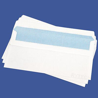 25 X DL Plain White Self Seal Envelopes 90GSM Opaque Postal Letter Pack Office
