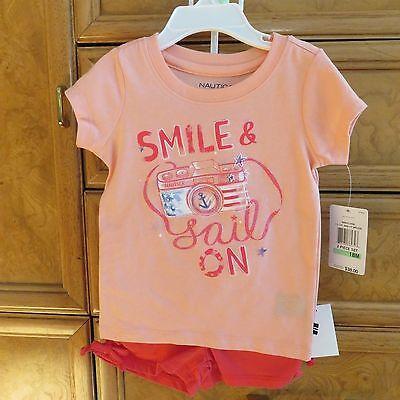 infant girls Nautica 2 piece shorts shirt size 18M brand new NWT $38.00