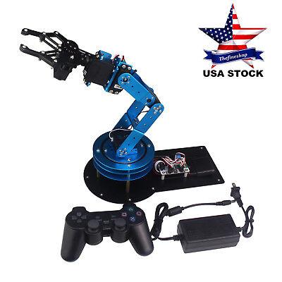 Learm Unassembled 6dof Mechnical Robotic Arm 6pcs Digital Servo Ps2 Handle Us