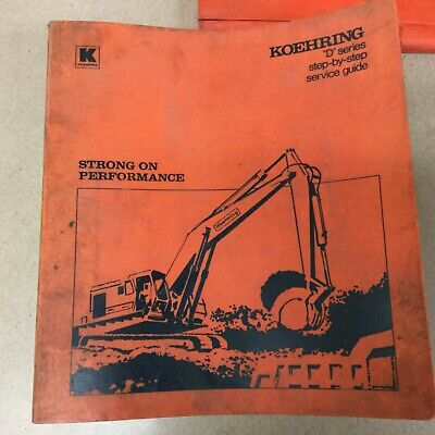 Koehring 466d 666d 866d 1066d Excavator Service Manual Hydraulic Pneumatic Guide