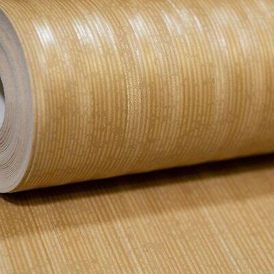 r Golden Stripes Lines Textured Vinyl Wallpaper FD68662UP (Metallic Gold Vinyl)