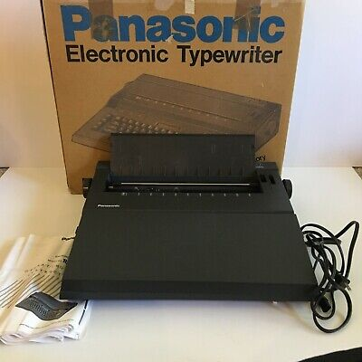 Panasonic T30 Electronic Typewriter Word Processor W Lcd Display Black In Box