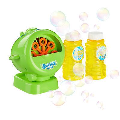 Seifenblasenmaschine Flugzeug grün, Luftblasenmaschine Bubble Machine für Kinder