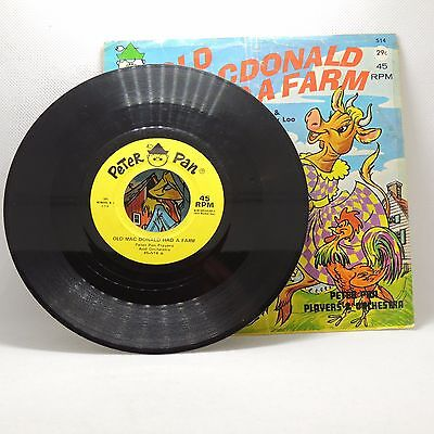 Early Peter Pan OLD MACDONALD HAD A FARM & Looby Loo 45 RPM Record #514