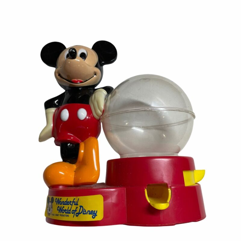 MICKEY MOUSE Disney Red Gumball Machine Bank Candy Dispenser Superior Toy Co