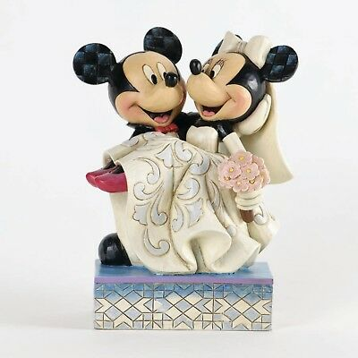 Jim Shore Disney Traditions 'Congratulations' Mickey and Minnie Wedding 4033282