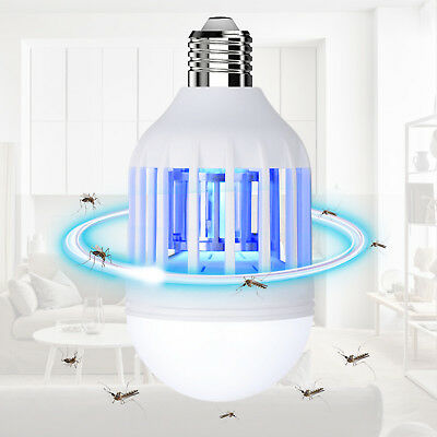 2 In 1 Light Zapper Led Lightbulb Bug Mosquito Fly Insect Killer Bulb Lamp Home