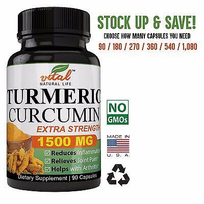 Turmeric Curcumin 1500 Mg With Bioperine Anti Inflammatory Premium Potency