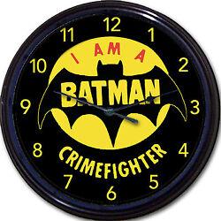 Batman Super Heroes Crimefighter Comics Movie Gotham DC Superpower Wall Clock