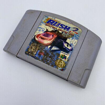 GOOD Rush 2 Extreme Racing USA AUTHENTIC TESTED Nintendo 64 N64