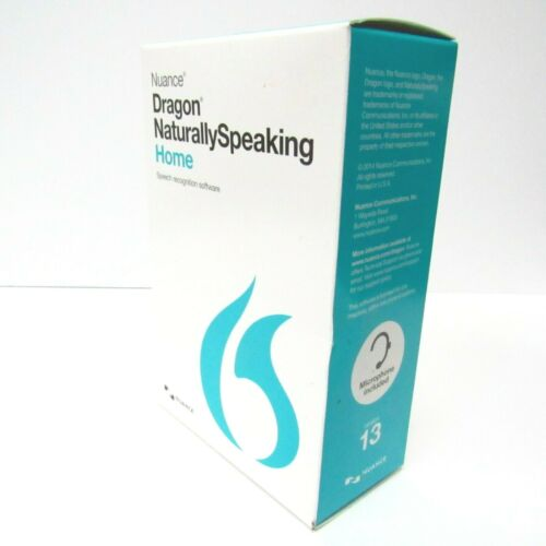 Nuance Dragon Naturally Speaking Home Speech Recognition Software 13 -Microphone