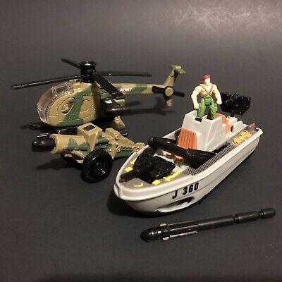 Matchbox Mission Bravo (Mattel 1998) Dragon Boat + A-Tac Helicopter 2 pack /1:64