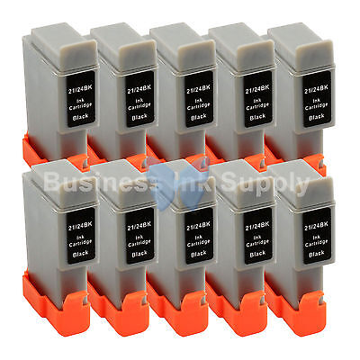 10 BLACK BCI-24 BCI24 NEW Compatible Ink Cartridge for Canon BCI-24BK HIGH YIELD