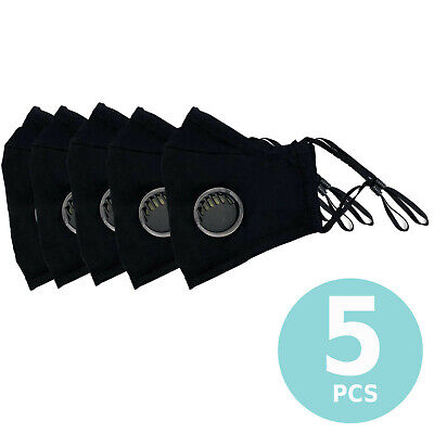 Face Mask Reusable Filters Valves Sports Cycling Washable Covering Masks