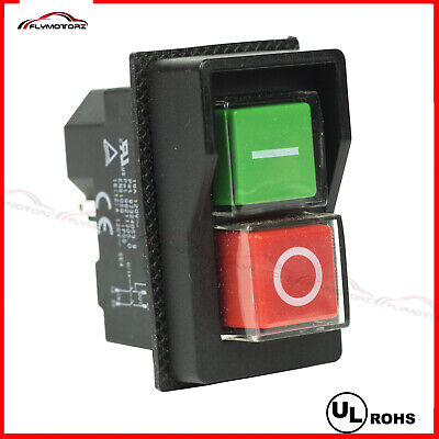 Ul 110vac 4 Pin Onoff Waterproof Electromagnetic Pushbutton Switch Saw Drill