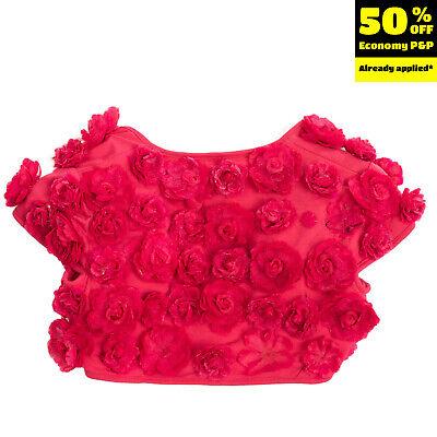MISS GRANT Bolero Size 32 / 6-7Y / 116-122CM Flowers Embellished Short Sleeve