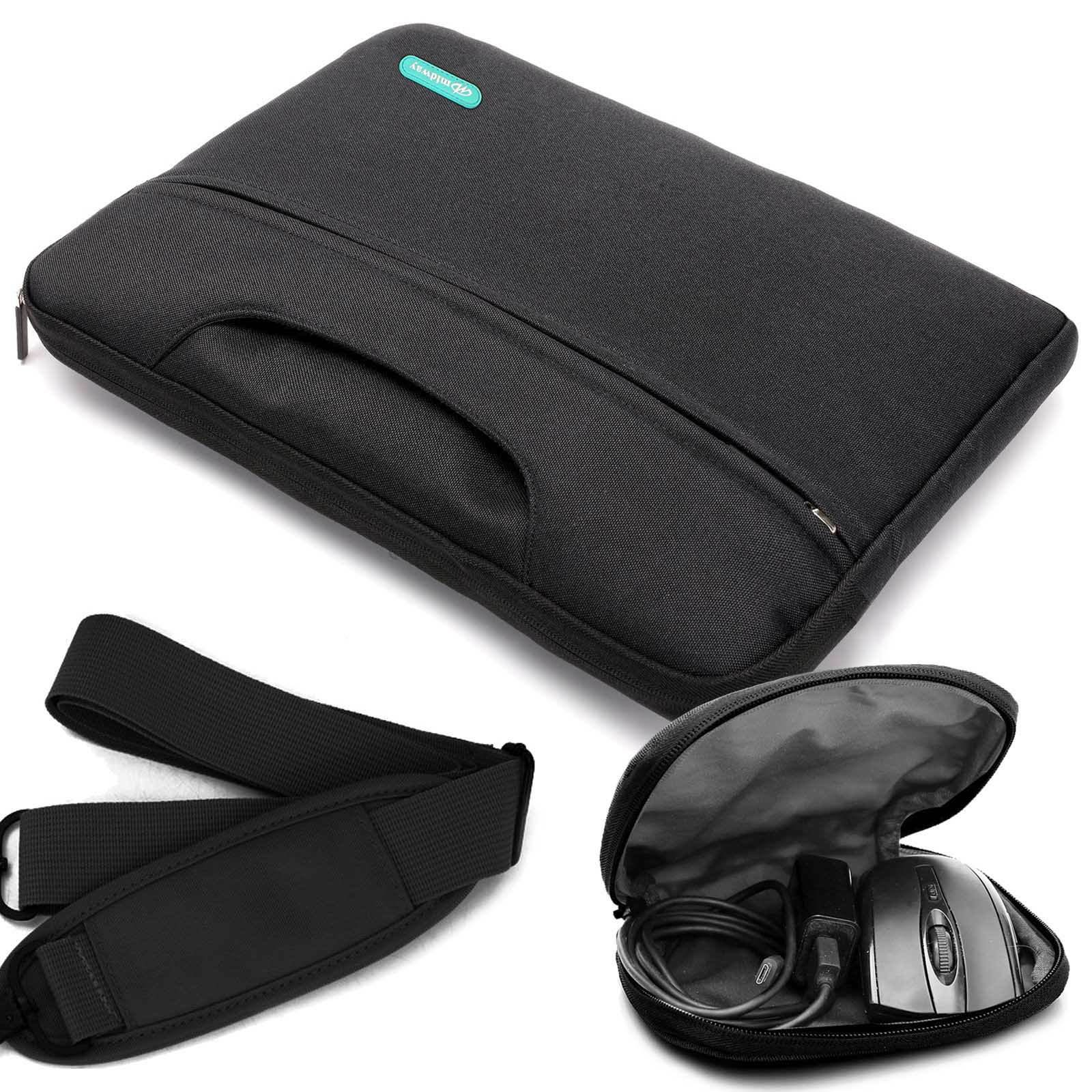 Laptop Sleeve Case Cover Bag with Shoulder Strap for 15-15.6