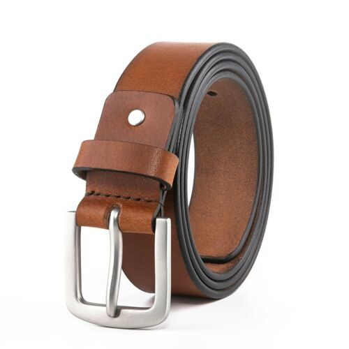 Men's Belts,full Grain Genuine Leather Casual Dress Jeans Belts For Men