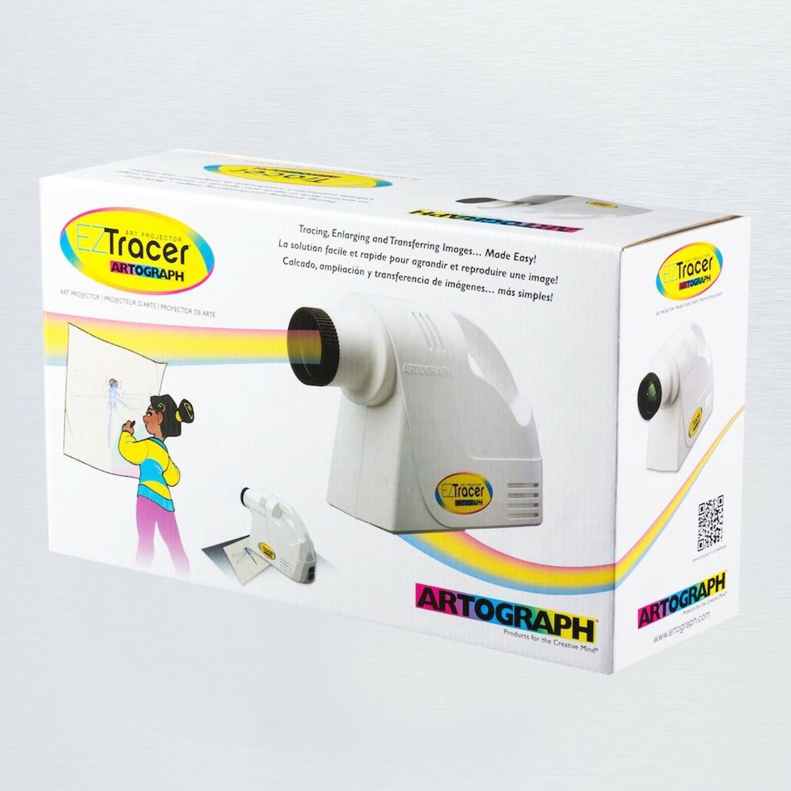 14x Magnification Artograph Tracer Projector /& Enlarger 2x in Box White