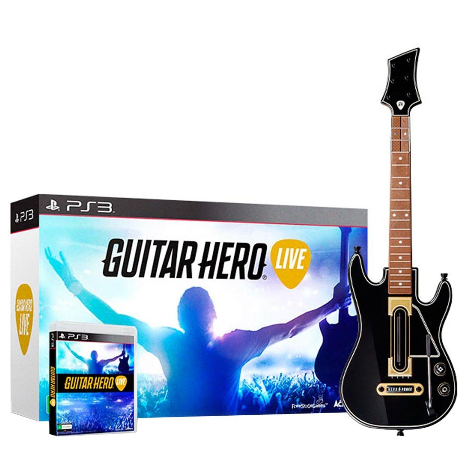 $37.80 - Guitar Hero Live Bundle (Sony PlayStation 3, 2015) New/Sealed