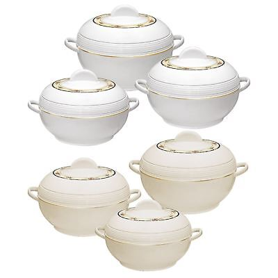 3pc Hot Pot Set Food Warmer Serving Insulated Casserole Pan Dish Round Ambience ()