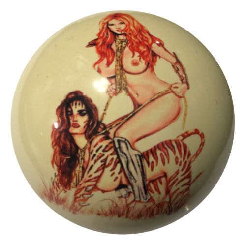 Pool/Billiards Custom Cue Ball Ride Em Girl Pin-Up Unique & Great Gift!