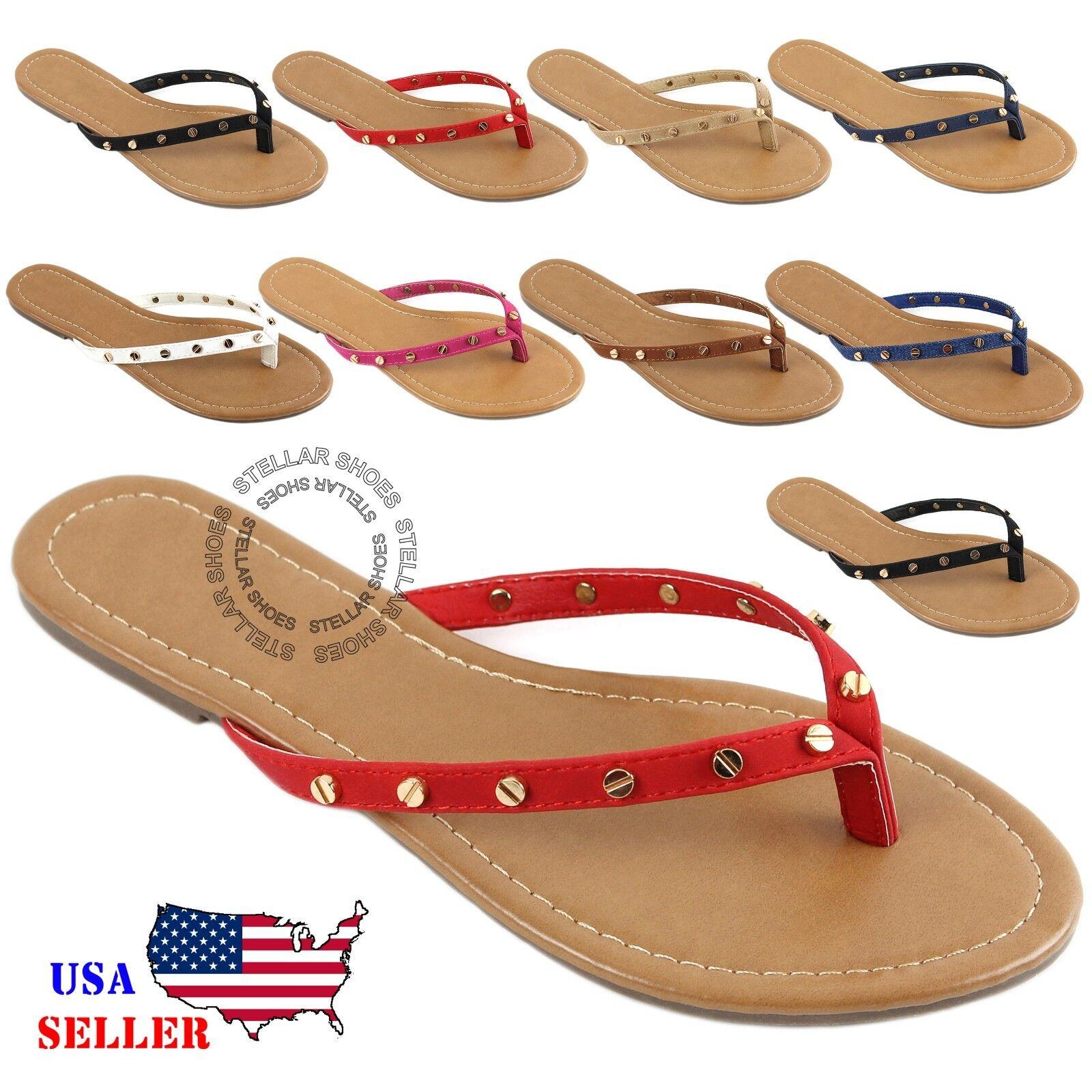b4012cea49ca9f NEW Womens Summer Cute Gold Plated Cartier Stud Thong Sandal Slipper Flip  Flops 아이템 넘버  122531944822.
