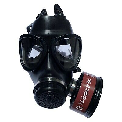 Mask Full Face Head Ventilative Biochemical Gas Mask Widely Used In Organic Gas