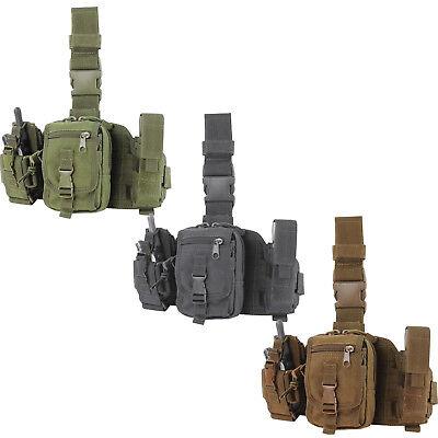 - Condor MA25 Tactical Drop Down Leg Rig MOLLE Modular GPS Tool Utility Pouch