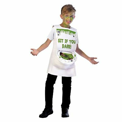 Kids Boys Girls Novelty Slimy Toilet Loo Sewer Rat Slime Halloween Costume
