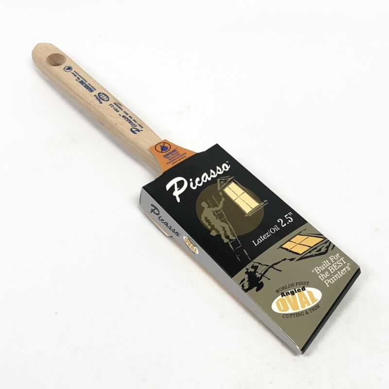 """Proform Picasso PIC1-2.5 Angled Oval 2.5"""" Latex/ Oil Paint Brush New HARDLINE"""