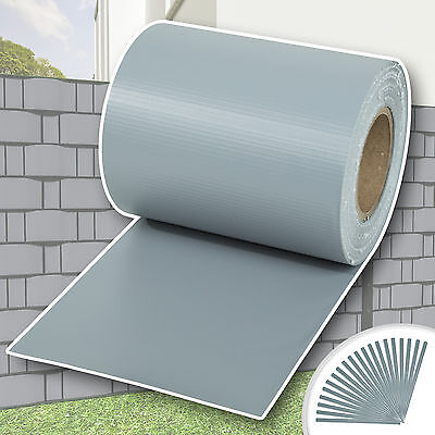 Garden fence screening privacy shade 70 m roll panel cover mesh foil grey new
