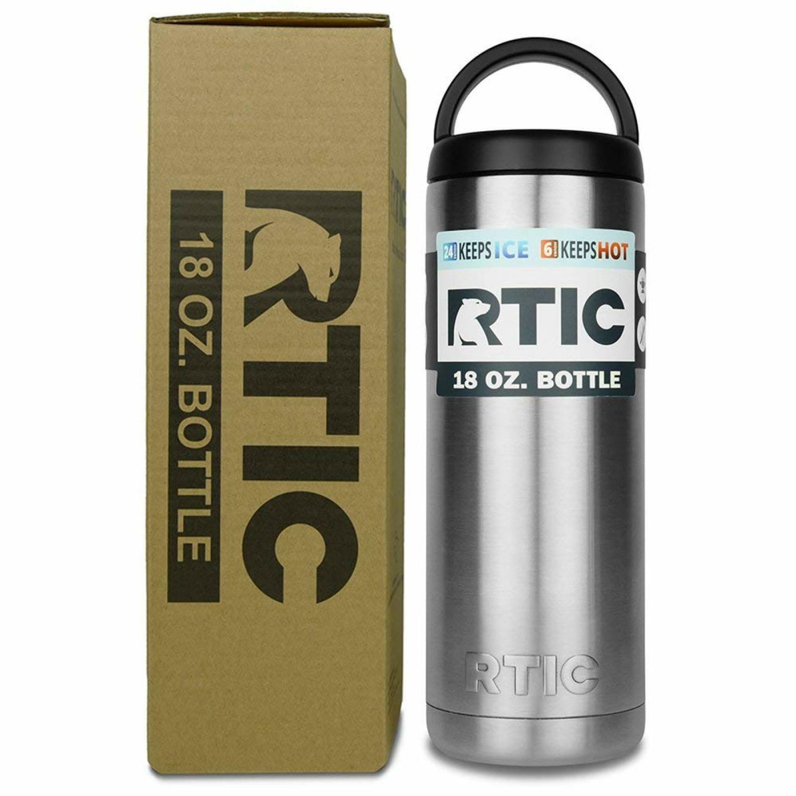 65a0e882655 Details about RTIC® 18 Oz Insulated Water Jug Bottle Stainless Steel  Rambler 2-Wall-SILVER