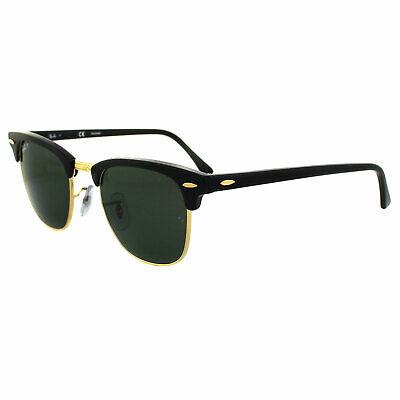 Ray-ban Sonnenbrille Clubmaster 3016 901/58 Schwarz Grün Polarisiert Klein 49mm