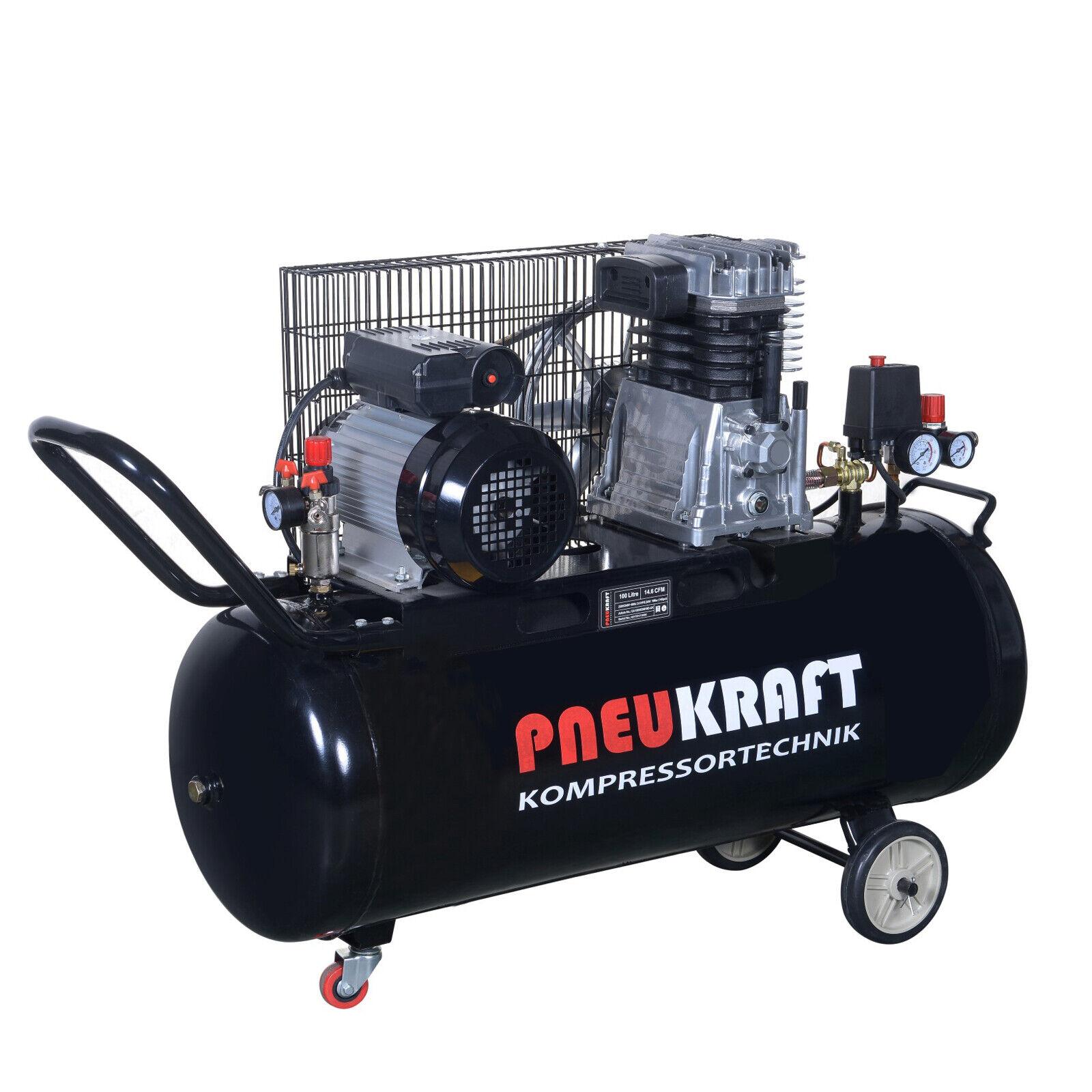 druckluft kompressor 100l pneukraft luftkompressor 2. Black Bedroom Furniture Sets. Home Design Ideas