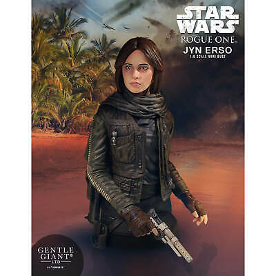 Gentle Giant Star Wars: Rogue One - 1/6 Jyn Erso Mini Bust - 16cm. NEW.