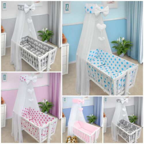 BABY NURSERY CANOPY DRAPE MOSQUITO NET WITH HOLDER TO FIT CRIB