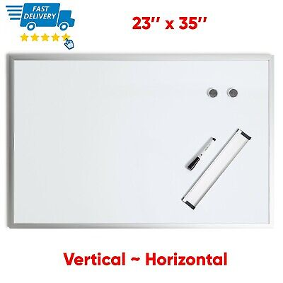 Magnetic Whiteboard 36 X 24 Inch Dry Erase White Board Wall Hanging Board Silver