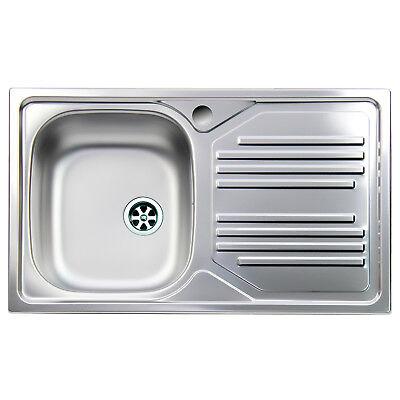 Lavello da cucina acciaio inox Apell Atmosfera vasca singola gocciolatoio destra