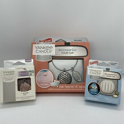 Yankee Candle CHARMING SCENTS Starter Kit PINK SANDS Car Charm Air Freshener