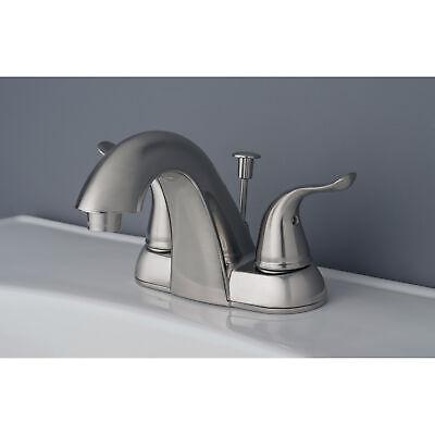"Contemporary Bathroom Vanity Sink 4"" Centerset Bathroom Faucet Brushed Nickel 2"