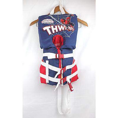 NWT Marvel Ultimate Spider-man Life Jacket Infant Floating Vest Child PFD Device (Spider Man Water Sports Vest)