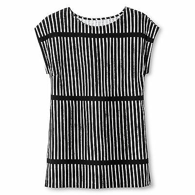 NEW! Marimekko Black & White Striped Soft Dress or Cover Up, Small - RETAILS $27