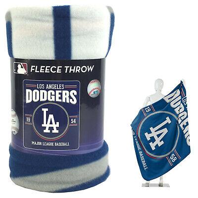 New Northwest MLB Los Angeles Dodgers Large Soft Fleece Throw Blanket 50