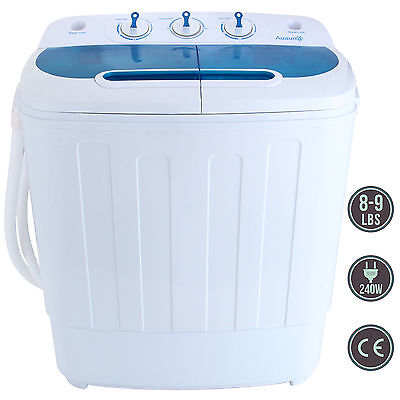 غسالة ملابس جديد Portable Mini 8-9lbs Washing Machine RV Dorm Compact Washer Spin Dryer Laundry