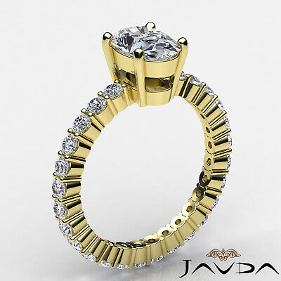 Shared Prong Oval Shape Natural Diamond Engagement Eternity Ring GIA F VS2 1.8Ct 7